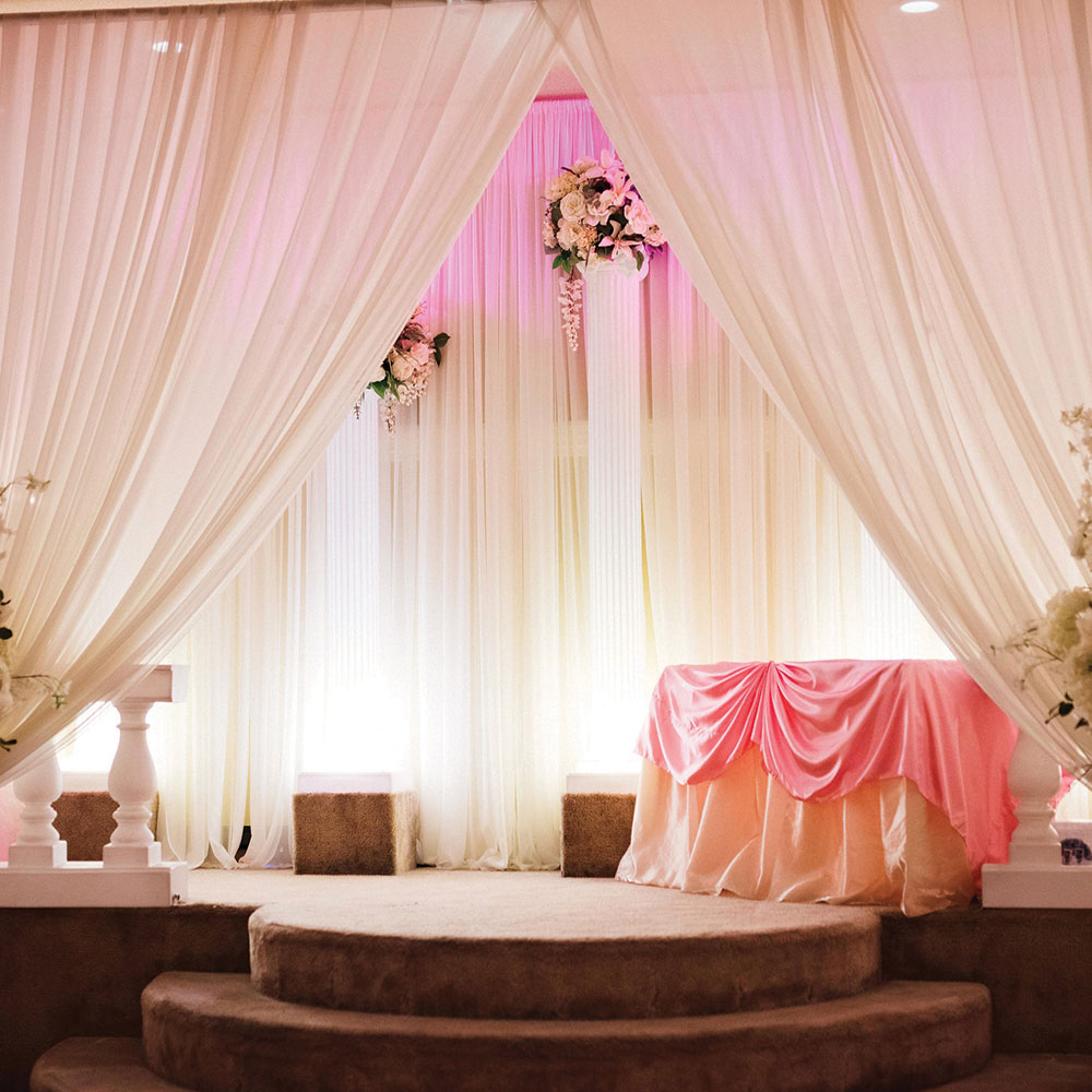 Ballroom Wedding Gallery Pink Ceremony