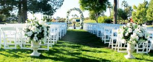 Affordable Outdoor Wedding Ceremony Space Setup