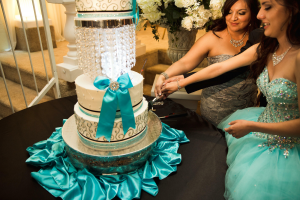 Quinceanera Event Banquet Hall Cutting the Cake