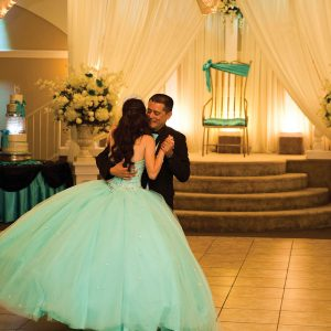 Quinceanera Ballroom Event Dancing with Dad
