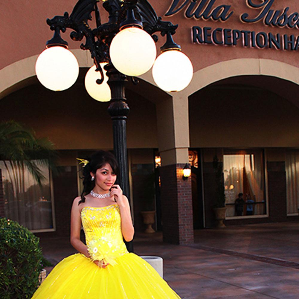 Quinceanera Reception Hall Outdoor Reception
