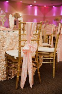 Wedding Ballrooms in Arizona Pink Chairs