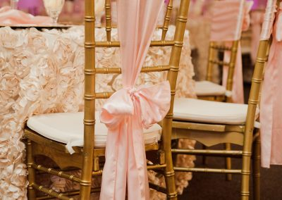 Wedding Ballrooms in Arizona Pink Chairs
