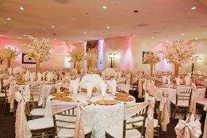 Wedding Ballroom Wedding Pink Flush Decor