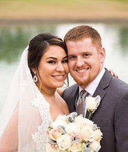 Outdoor Wedding Ceremonies Smiling Couple