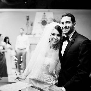 Wedding Venues Phoenix Black and White Ceremony
