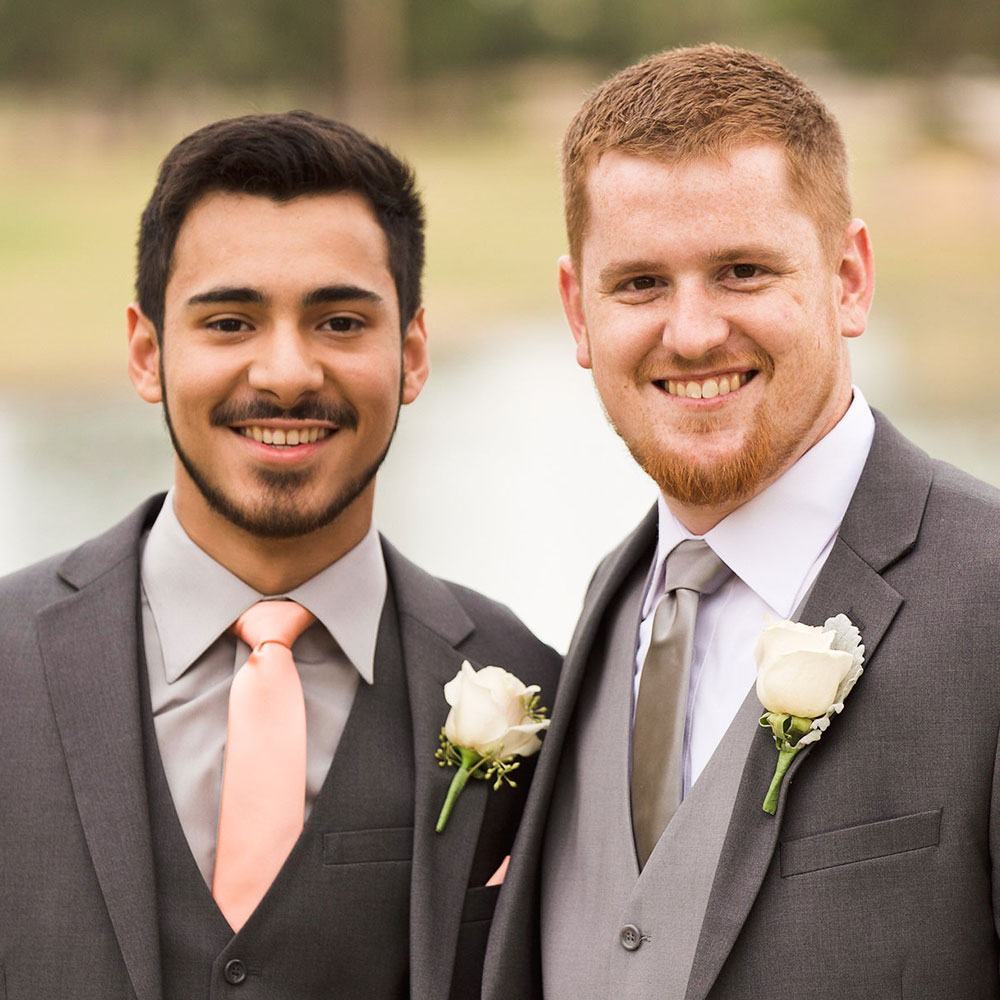 Outdoor Wedding Ceremony Locations Groomsmen