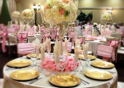 Wedding Banquet Hall Rental Springtime Pink Reception