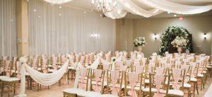 Wedding Ceremony Hall Pink Seating