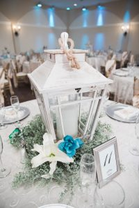 Wedding Reception Halls and Light Blue Decor
