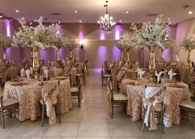wedding reception decorations pink tones