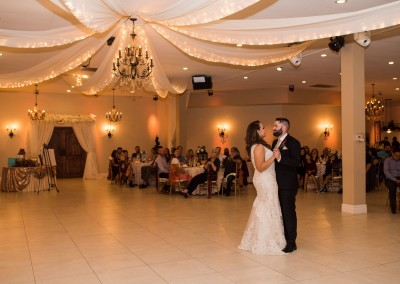 Villa Tuscana Reception Hall event showing Bride and groom dance