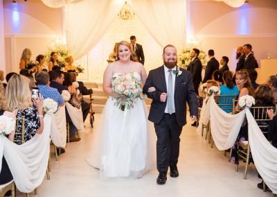Indoor Wedding Ceremony at Villa Tuscana Reception Hall