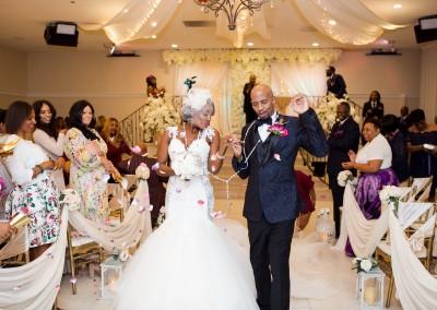 Indoor Wedding Ceremony Congratulations Just Married