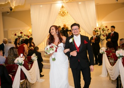Villa Tuscana Reception Hall event showing Indoor Wedding Reception Just Married