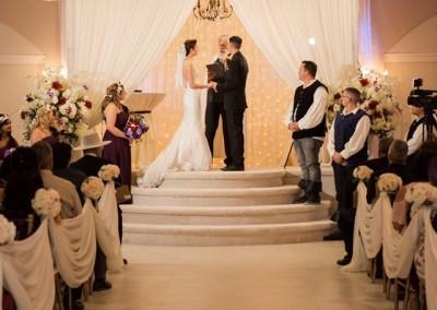 Indoor Wedding Vows at Villa Tuscana