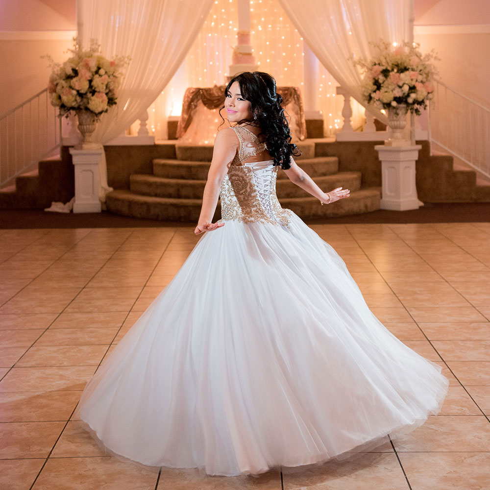 Villa Tuscana Reception Hall event showing quinceanera celebration in banquet hall