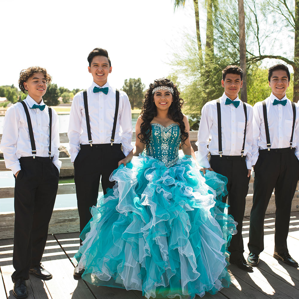 Villa Tuscana Reception Hall event showing quinceanera court