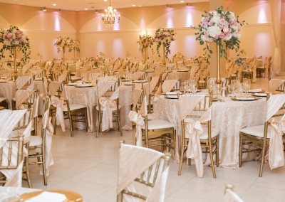 Villa Tuscana ballroom wedding reception
