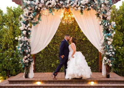 Villa Tuscana Reception Hall event showing Outdoor Evening Wedding at Villa Tuscana