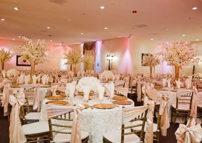 Wedding Ballroom Wedding Pink Flush Decor