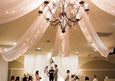 Villa Tuscana Reception Hall event showing indoor wedding reception