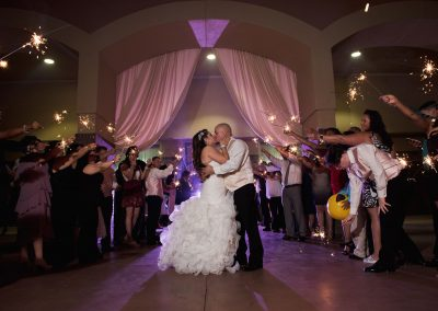 Villa Tuscana Reception Hall event showing courtyard wedding reception at Villa Tuscana