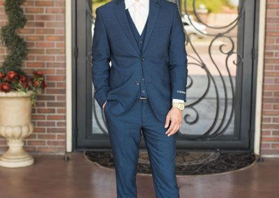 Villa Tuscana Reception Hall event showing groom outside of building