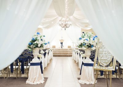 Wedding Ceremony Decor Navy Blue