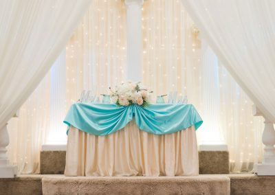 Wedding Ceremony Space - Light Blue Decor