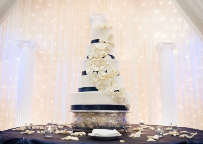 Villa Tuscana Reception Hall event showing beautiful wedding cake