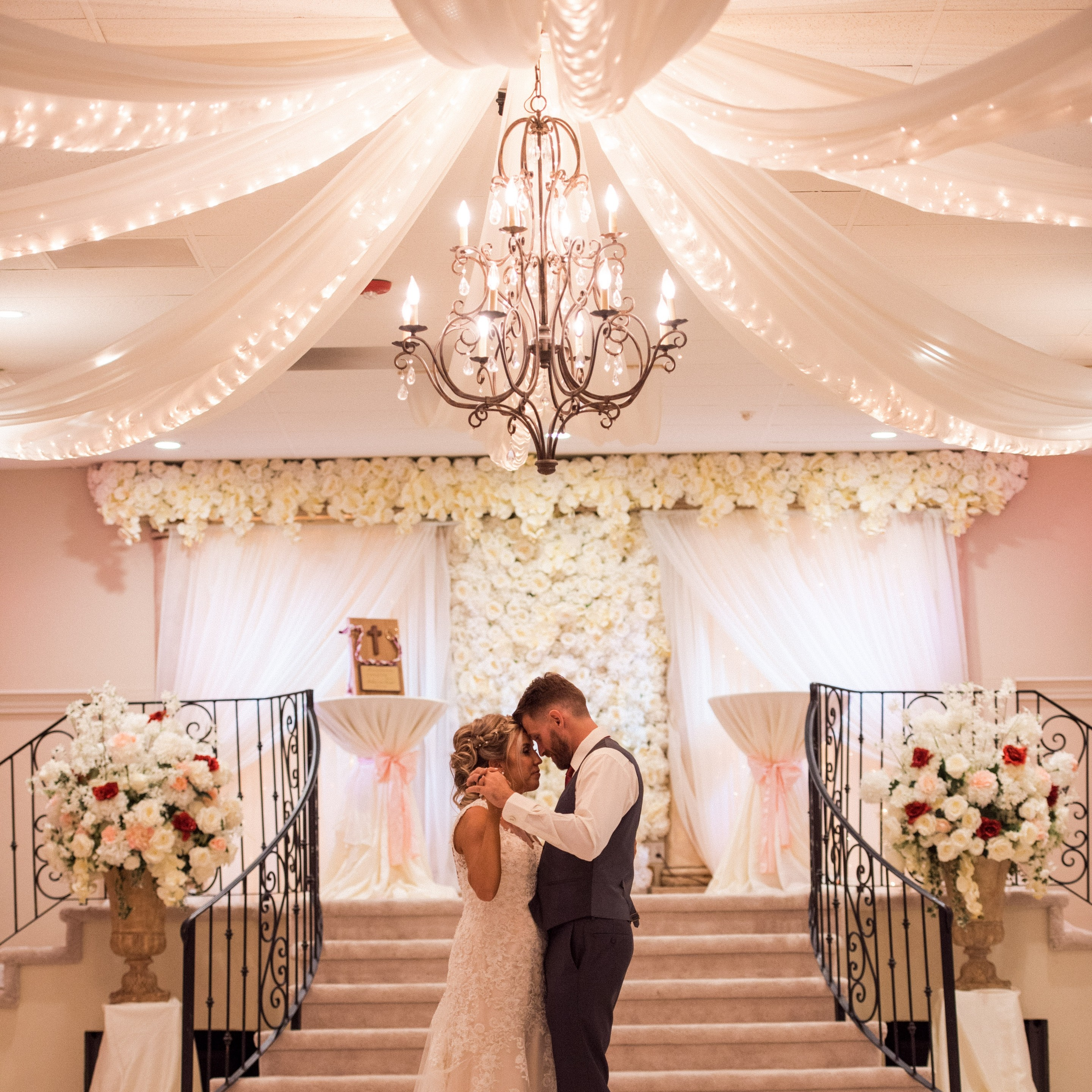 Villa Tuscana Reception Hall in Mesa for Weddings and Quinceanera showing couple dancing in reception hall