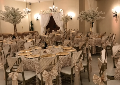 Villa Tuscana Reception Hall event showing wedding reception table decor