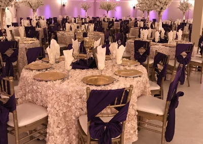 Villa Tuscana Reception Hall event showing Wedding reception tables