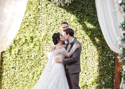Alejandra & Nathan Kiss The Bride