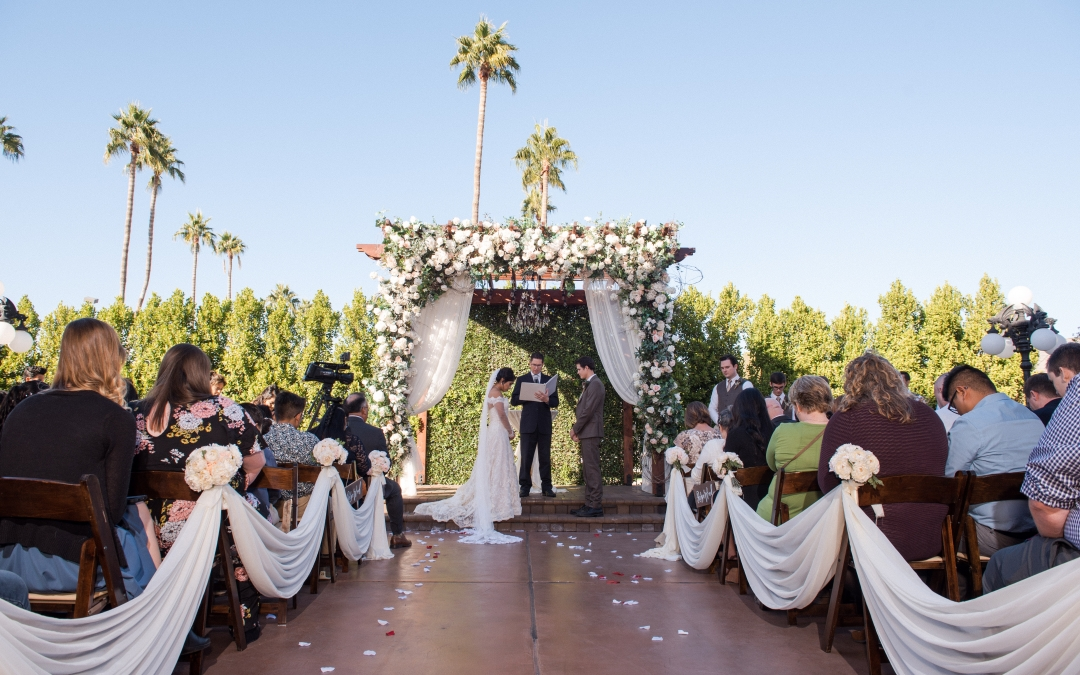 Alejandra and Nathan outdoor wedding ceremony
