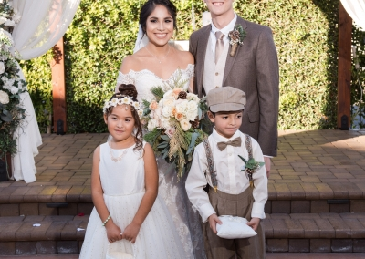 Alejandra & Nathan With Ring Bearer and Flower Girl