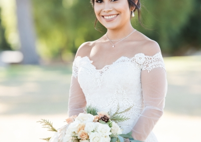 Alejandra With Winter Bridal Bouquet