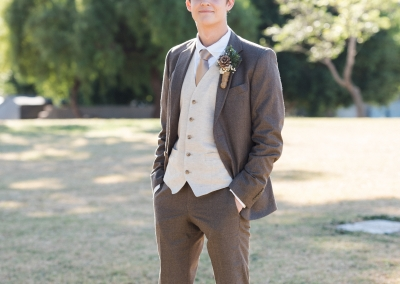 Groom candid shot