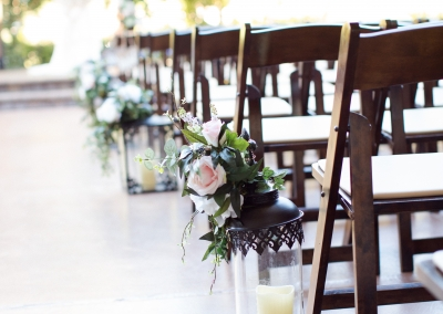 ceremony isle flower floor decor