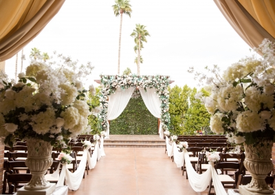 Villa Tuscana Reception Hall event showing an Outdoor wedding ceremony