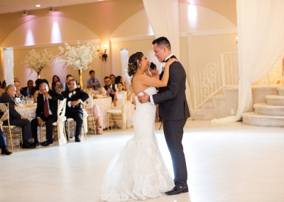 Villa Tuscana Reception Hall event showing a couple's first dance at their wedding