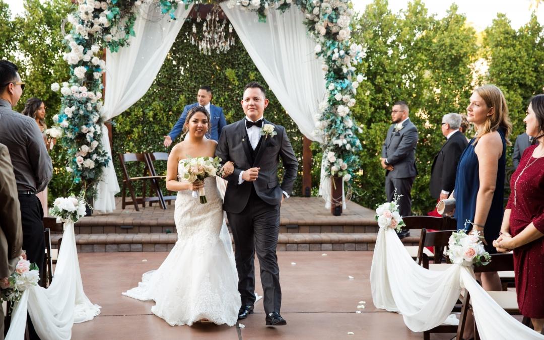 Villa Tuscana Reception Hall event showing Ashley and Juan wedding