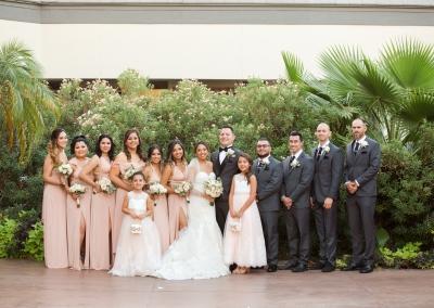 Villa Tuscana Reception Hall event showing a wedding party photo shoot