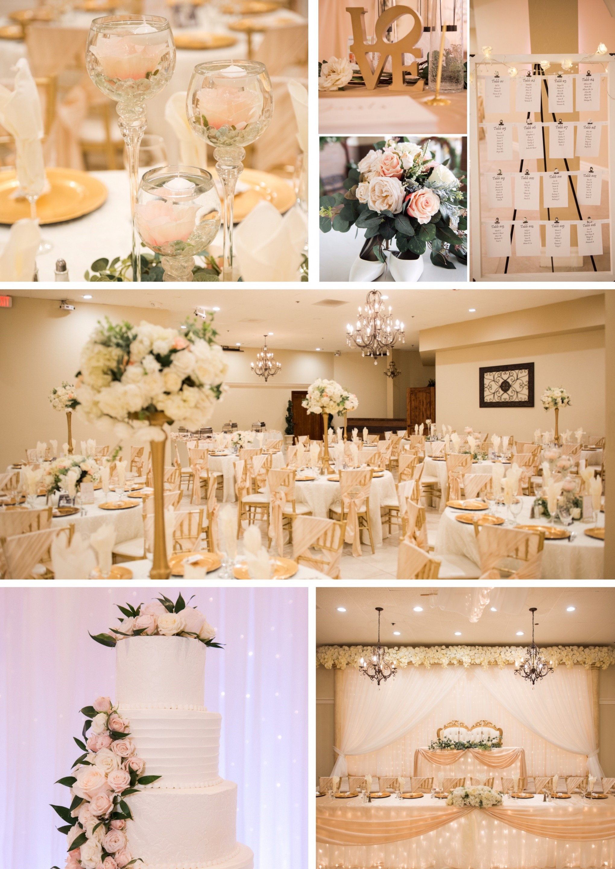 ivory wedding decor