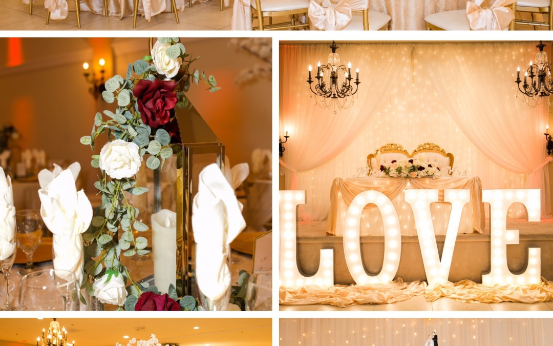 neutral wedding decor