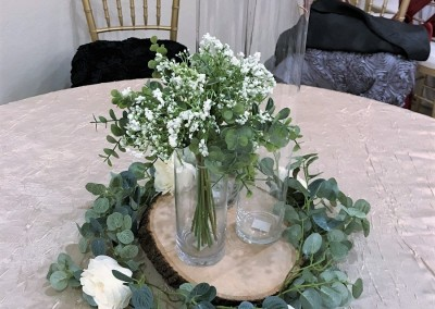 Villa Tuscana Reception Hall in mesa showing custom centerpiece for wedding or event